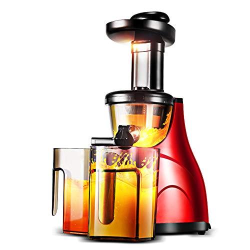 NNDQ Extractor de jugos de masticación Lenta, máquina automática de jugos multifunción de Frutas y Verduras, diseño de Seguridad, fácil de Limpiar, sin BPA, Rojo
