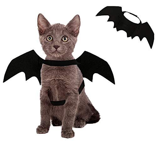 Kevona Halloween Cat Costume Dog Costumes Pet Bat Wings Costumes Decoration for Puppy Cats Dogs Cosplay