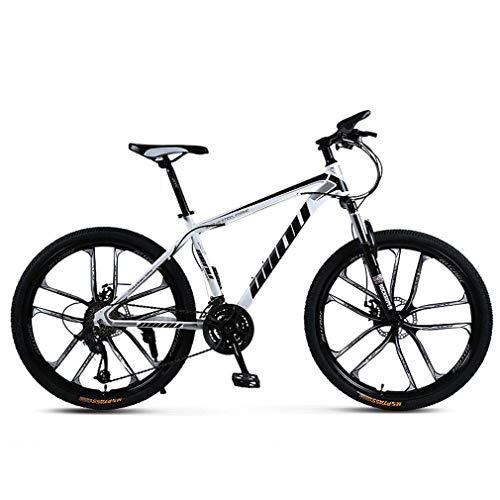 AISHFP 26 Pulgadas de Bicicletas de montaña para Adultos, Playa de Motos de Nieve de Bicicletas, Bicicletas de Doble Disco de Freno, 26 Pulgadas de aleación de Aluminio Ruedas,A,27 Speed