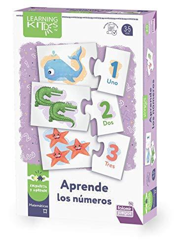 Falomir- Aprende Juego de Mesa Educativo para Practicar el conteo y asociar números con cantidades. Puzle. (30025)