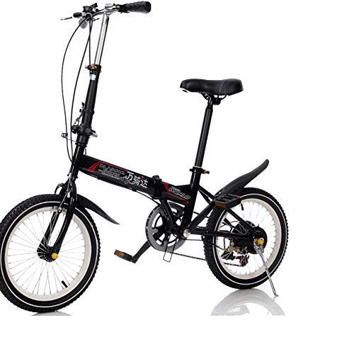 DPGPLP fiets opvouwbaar 20 inch fiets opvouwbaar met snelheid Variabel fiets voor heren en dames opvouwbaar voor vrije tijd, draagbaar, opvouwbaar