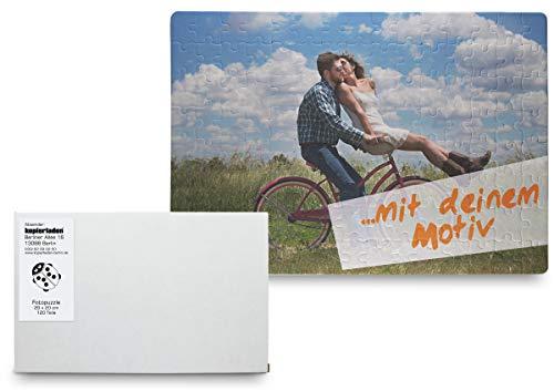 Kopierladen Fotopuzzle selbst gestalten, Puzzle mit eigenem Foto inkl. Schachtel, 120 Teile, 29x20 cm - persönliches Fotogeschenk, Geschenkidee