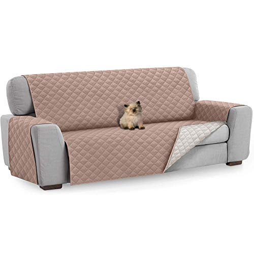 FREESOO Funda para Sofá 3 Plazas Funda Cubre Sofá Protector de Sofás para Perros Gatos Protector para Sofás Acolchado Reversible Cubierta para Sofa Antideslizante contra Mascotas Polvo y Manchas