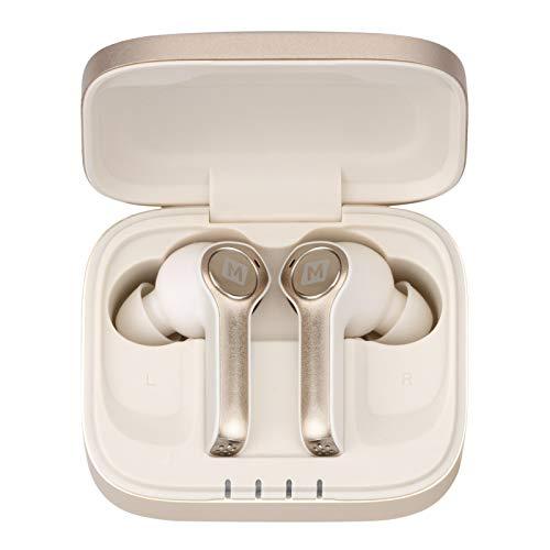 Bluetooth 5.0 Kopfhörer in Ear Kabellose Headset Stereo Sound Integriertem Wireless Sport Ohrhörer Kompatibel mit MOMAX BT5 True In-Ear-Monitor Denoise-Kopfhörer (Gold)