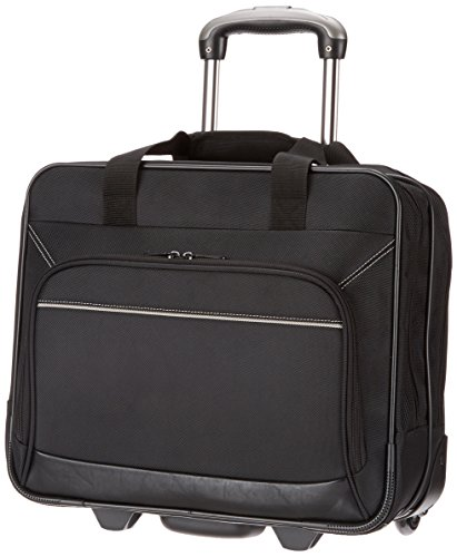 AmazonBasics Rolling Bag Laptop Computer Case with...