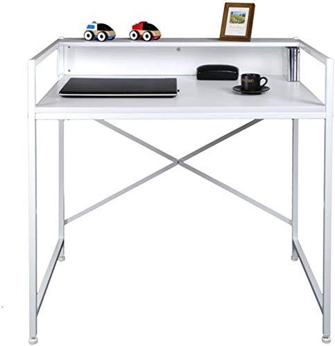 ZHAS Klapptisch Laptop-Tisch Klappschreibtisch Roller Schreibtisch Esstisch Ahorn Farbe 2 Farbe Wahlweise Größe Wahlweise Schreibtische (Farbe: Weiß, Größe: 92 * 60 cm)