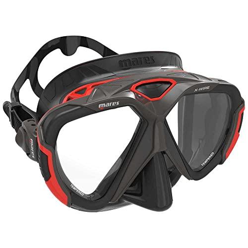 Mares - X-Wire Maske (schwarz/rot)