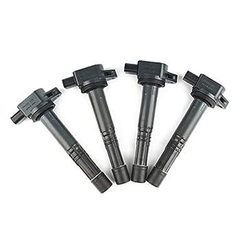 30520-PNA-007 Ignition coil Pack 4Pcs 099700-070 Replacement for L4 2.4L 2003-2007 Honda Accord 2003-2011 Honda Acura RSX legend L4 2.2L 2004-2005 S2000 Honda Element CR-V UF311 UF583 C1382 6732301