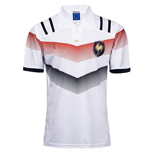 MRRTIME Rugby-Trikots für Männer, Frankreich Home und Away Kurzärmeliges T-Shirt Poloshirt, 16.17.18,19 Saison-Fan-Stickerei Rugby T-Shirt Sportbekleidung Top 18 Home-M