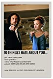 Movie Wall Art Wall Retro Poster 10 Things I Hate About You HD Waterproof Poster...