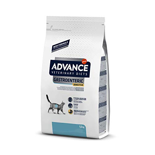 ADVANCE Veterinary Diets - Gastroenteric Sensitive - Croquettes pour Chat avec Troubles Digestifs - 1,5kg