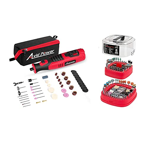 Avid Power Cordless Rotary Tool Bundle with Rotary Tool Accessories Kit