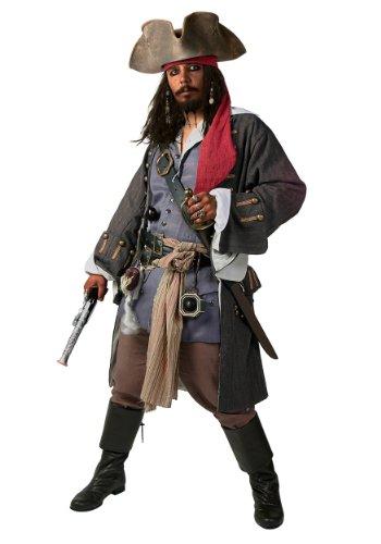 Disfraz de pirata caribeño realista de talla grande -  Azul -  3X