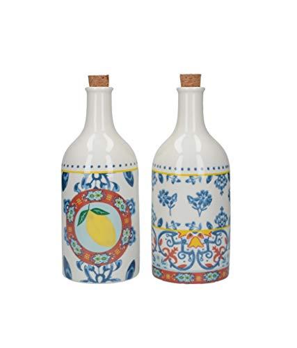 Kitchen Craft, Mehrfarbig, World of Flavours Essig-und Ölflaschen-Set, Keramik, 500 ml
