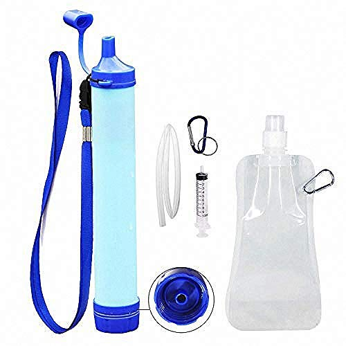 Jak Personal Water Filter Straw Water Purifier,Portable Water Filtration Straw Outdoor Purifier Survival Gear Best Life Emergency Tool for Climbing,Sports,Backpacking,Hiking,Camping,Travelling