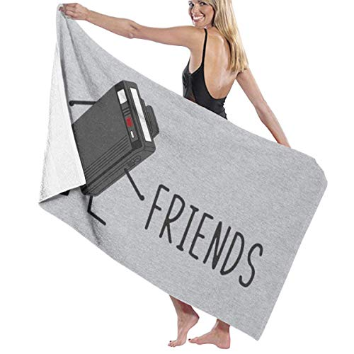 C-JOY Best Friends Fun Retro Beeper Bath Towel Five-Star Hotel Quality .Premium Collection Bathroom Towel.Soft,Plush and Highly Absorbent (1 Bath Towel 31x59 Inches)
