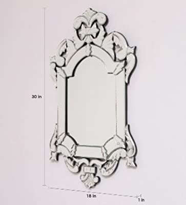 Venetian Design Jade Wall Mirror