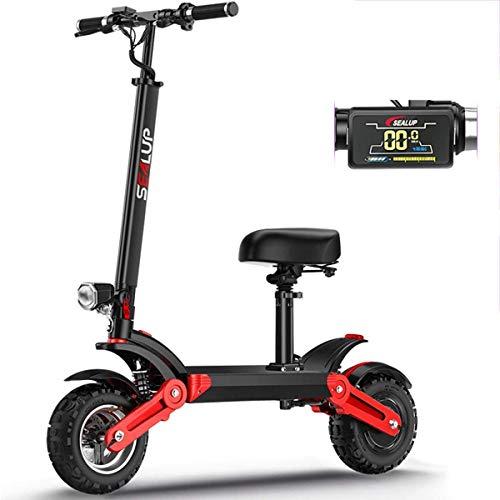 Haojie Scooter eléctrico Batería Plegable Coche de 12 Pulgadas Off-Road Coche eléctrico Scooter Adulto para Trabajar,B,40 km
