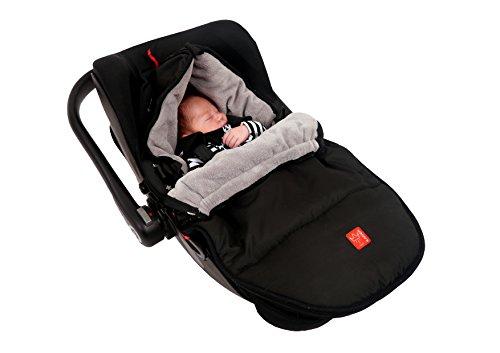Kaiser 6538525 Babyschalenfußsack Hoody, schwarz