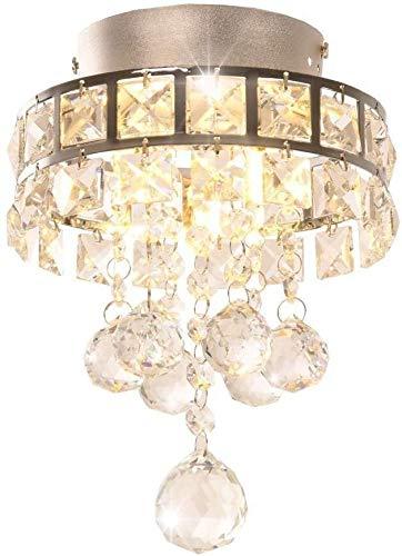 QCSMegy Lámparas de entrada de cristal de la lámpara de araña con tres luces de pasillo, dormitorio, cocina, habitación de los niños