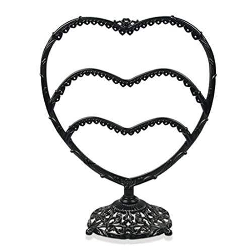 Leiouser - Pendientes con forma de corazón y copa de vino para almacenar joyas
