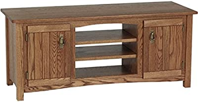 Amazon Com Solid Oak Mission Style Tv Stand W Cabinet 978 Kitchen