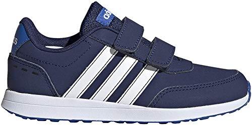 adidas Unisex-Child VS Switch 2 CMF Sneaker, Dark Blue/Footwear White/Blue, 35 EU