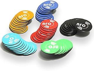 Outstanding/® Etiquetas engomadas elegantes de NFC de 3pcs 22m m Etiquetas engomadas mojadas para todos los tel/éfonos habilitados NFC