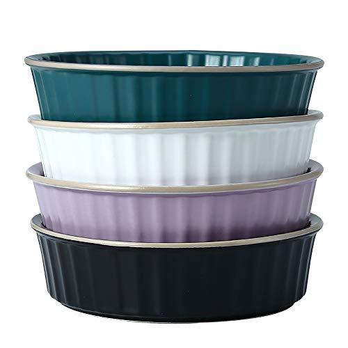 yaunli Bakeware Keramik Käse Gebackene Reis Teller Küche Restaurant Backgeschirr Kuchen-Backen-Pan (4 Stück) Ofen...