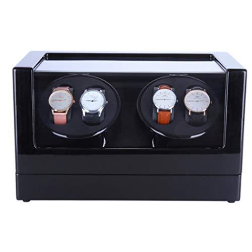 FHISD Enrollador de Relojes para Relojes Enrollador de Relojes Reloj mecánico, ondulador automático de Caja de Cadena Superior, Reloj Giratorio, medidor de agitación, medidor r