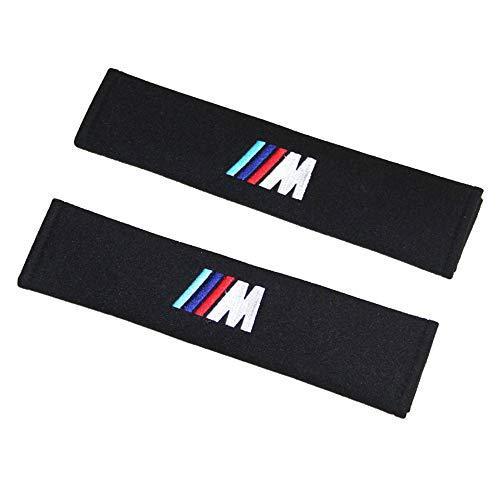 Auto Sicherheitsgurt Schulterpolster, Gurtschutz Weiche Baumwolle, Schützen Sie Ihren Hals Schulter Polster mit Auto-Logo (B-MW M)