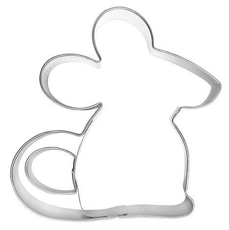 Ausstechform Maus, 8cm, Edelstahl