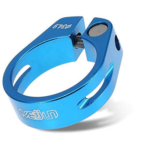VGEBY1 Sattelklemme 34,9mm, Fahrrad Sattelstützenklemme Mountainbike Sattelstütze Zubehör Aluminiumlegierung für Mountain und Rennräder Fahrradsattelstützensperre (Blau)