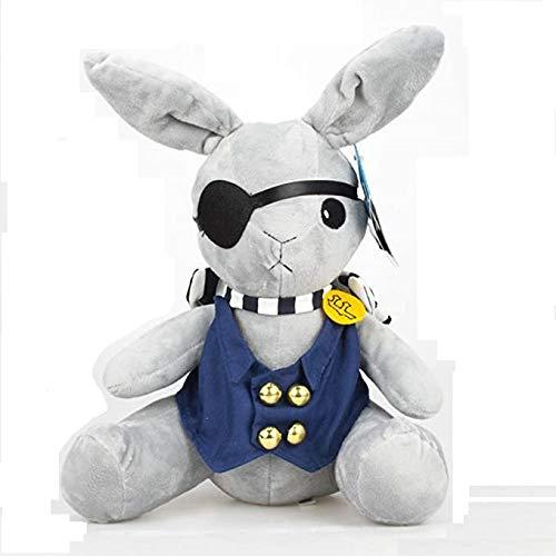 Vercico Black Butler Puppe Cosplay Shieru Ciel Bunny Kaninchen Stofftier Plüsch Kollektion Boutyan Plüsch Spielzeug Requisite für Anime-Fans