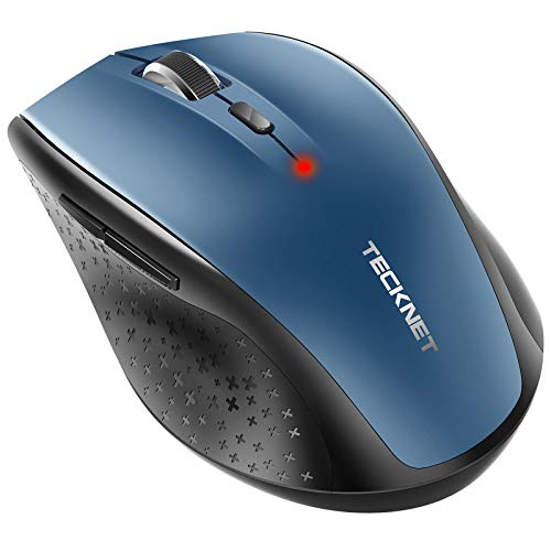 TECKNET Bluetooth Wireless Mouse, 5 Adjustable DPI Levels, 24-Month Battery Life, 6 Buttons Compatible for Ipad/Laptop/Surface Pro/Windows Computer/Chromebook-Blue