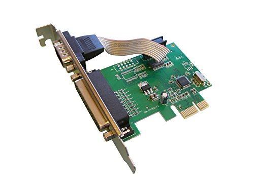 Kalea Informatique PCI-Express-Karte (PCI-E)//1 Port Serie COM RS232 Benczúr + 1 Port, LPT DB25//mit Chipsatz wch382l – Kompatibel Windows 10/8.1/8/Seven/Vista/XP + LINUX 3.x/2.6.X + Rücken