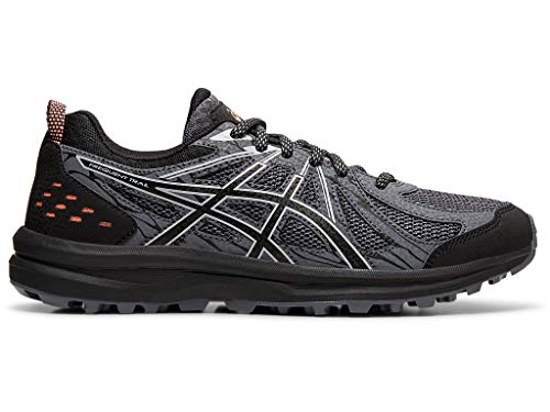 ASICS Women's Frequent Trail Running Shoes, 8M, Black/Piedmont Grey