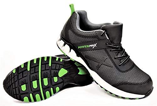 Stalco Arbeitsschuhe S1 POWERMAX (40) - Schuhe, Arbeitssneaker, Schuhe für Profi, Sicherheitsschuhe, Sneaker, Arbeitssneaker, Berufschuhe, Kunststoffkappe