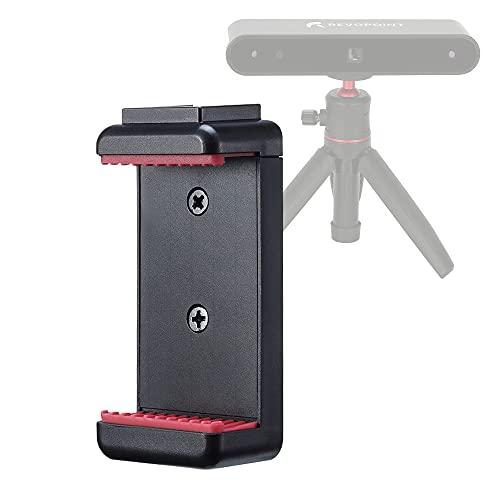 Revopoint Soporte de teléfono para POP 3D escáner Clip Soporte de teléfono celular Soporte ajustable para teléfonos inteligentes de 4 a 7 pulgadas