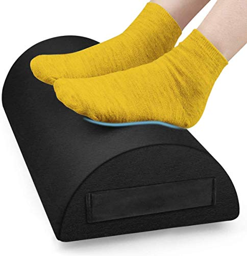 Foot Rest Under Desk Cushion, Office Foot Rest at Work Ergonomic Footrest Pure Memory Foam with Handle Non-Slip Surface for Office, Home, Travel,...