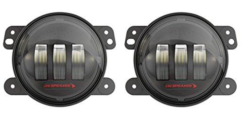JW Speaker LED Jeep Fog Lights, Model 6145 J2 Series with Black Bezel, Set of 2