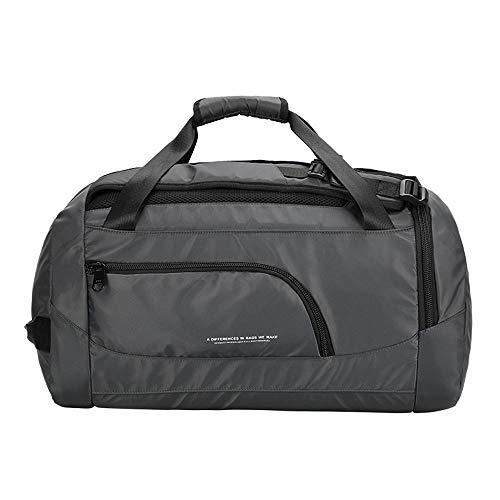 Molletons de Sport Sac de Sport Gym imperméable avec des Chaussures Compartiment Sac Duffel Fitness Voyage Yoga Training Bag Sacs de Sport Grand Format (Color : Gray, Size : One Size)
