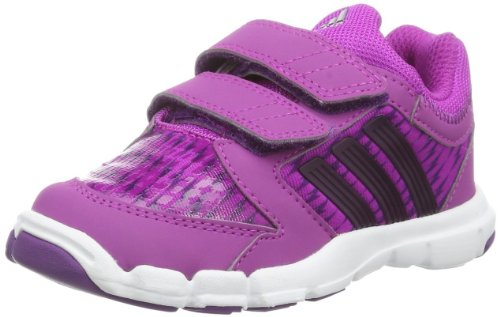 adidas Baby Mädchen Adipure Trainer 360 CF Sneaker, Pink (Vivid Pink S13/Tribe Purple S14/Metallic Silver), 22 EU