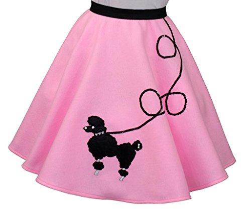 3 BIG NOTES – Children Pink Felt Poodle Skirt