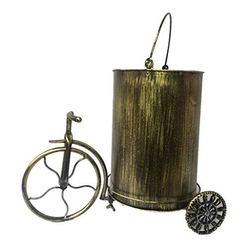 Cubo de basura La basura retro metal puede decoración del hogar Bote de basura de hierro forjado de bicicletas y Barril Bar Restaurante Habitación Sala Cafe moda alternativa Papelera Residuos Contened