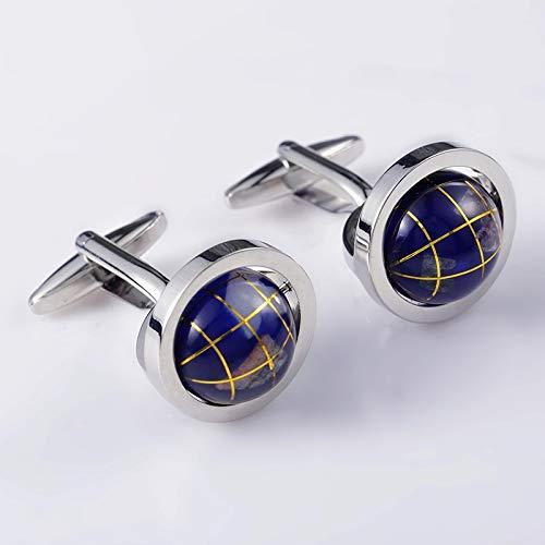 XKSWZD Boutons de Manchette de Globe Rond de Mode de qualité Chemise Nouveau Bouton de Manchette d'avocat de Cadeau 362