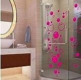 Burbujas Arte De La Pared Baño Ventana Ducha Azulejo Decoración Calcomanía Niño Etiqueta De Coche Etiqueta De Pared Impermeable Y Extraíble