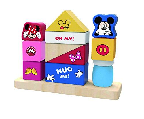 Disney Jeu de Construction Mickey Mouse en Bois, TY009, Multicolore