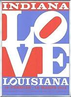 ポスター ロバート インディアナ Love louisiana 額装品 アルミ製ベーシックフレーム(シルバー)