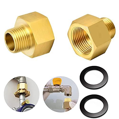 2 Stücke Gas Adapter,Gasschlauch Verbinder,1/2